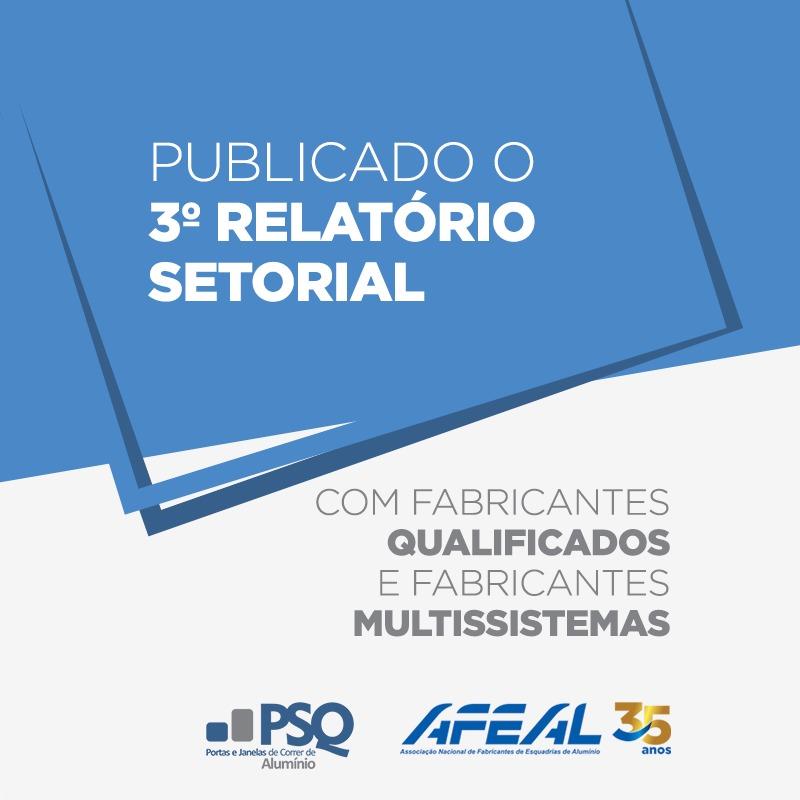Relatório Setorial 003 aponta empresas qualificadas pelo PSQ