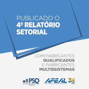 4º Relatório Setorial de empresas qualificadas no PSQ já está disponível